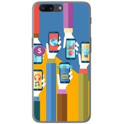 Funda Gel Tpu para Oneplus 5 Diseño Apps Dibujos