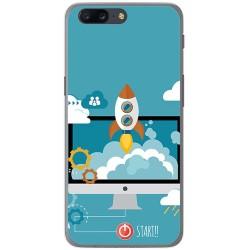 Funda Gel Tpu para Oneplus 5 Diseño Cohete Dibujos