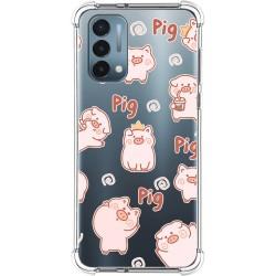 Funda Silicona Antigolpes para OnePlus Nord N200 5G diseño Cerdos Dibujos
