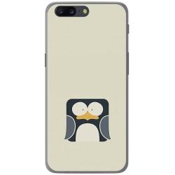 Funda Gel Tpu para Oneplus 5 Diseño Pingüino Dibujos