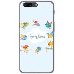 Funda Gel Tpu para Oneplus 5 Diseño Spring Birds Dibujos