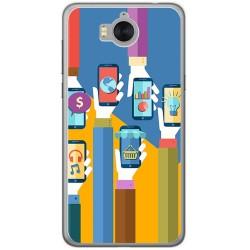 Funda Gel Tpu para Huawei Y6 2017 Diseño Apps Dibujos