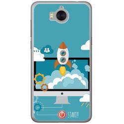 Funda Gel Tpu para Huawei Y6 2017 Diseño Cohete Dibujos