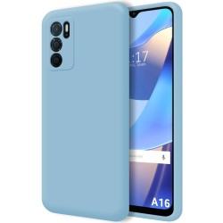 Funda Silicona Líquida Ultra Suave para Oppo A16 / A16s color Azul