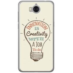 Funda Gel Tpu para Huawei Y6 2017 Diseño Creativity Dibujos
