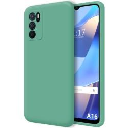 Funda Silicona Líquida Ultra Suave para Oppo A16 / A16s color Verde