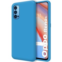 Funda Silicona Líquida Ultra Suave para Oppo Reno 4 5G color Azul