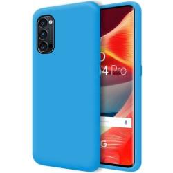 Funda Silicona Líquida Ultra Suave para Oppo Reno 4 Pro 5G color Azul