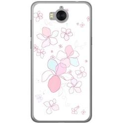 Funda Gel Tpu para Huawei Y6 2017 Diseño Flores Minimal Dibujos