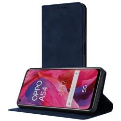 Funda Polipiel con tarjetero para Oppo A54 5G / A74 5G color Azul