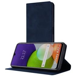 Funda Polipiel con tarjetero para Samsung Galaxy A22 LTE 4G color Azul