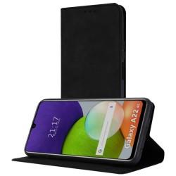 Funda Polipiel con tarjetero para Samsung Galaxy A22 LTE 4G color Negra