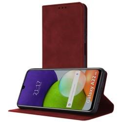 Funda Polipiel con tarjetero para Samsung Galaxy A22 LTE 4G color Roja