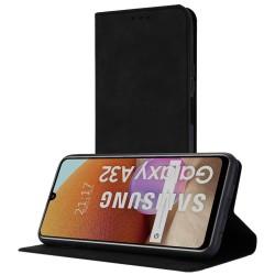 Funda Polipiel con tarjetero para Samsung Galaxy A32 4G color Negra