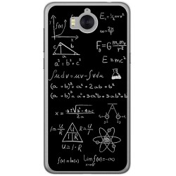 Funda Gel Tpu para Huawei Y6 2017 Diseño Formulas Dibujos