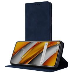 Funda Polipiel con tarjetero para Xiaomi POCO F3 5G / Mi 11i 5G color Azul