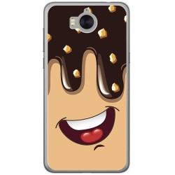 Funda Gel Tpu para Huawei Y6 2017 Diseño Helado Chocolate Dibujos