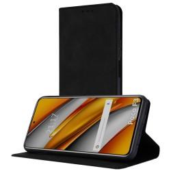 Funda Polipiel con tarjetero para Xiaomi POCO F3 5G / Mi 11i 5G color Negra