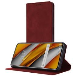 Funda Polipiel con tarjetero para Xiaomi POCO F3 5G / Mi 11i 5G color Roja