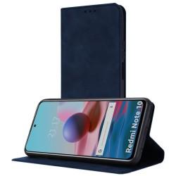 Funda Polipiel con tarjetero para Xiaomi Redmi Note 10 / 10S color Azul