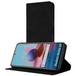 Funda Polipiel con tarjetero para Xiaomi Redmi Note 10 / 10S color Negra