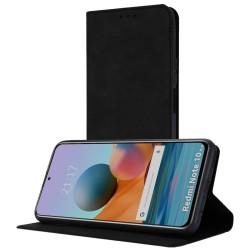 Funda Polipiel con tarjetero para Xiaomi Redmi Note 10 Pro color Negra