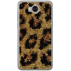 Funda Gel Tpu para Huawei Y6 2017 Diseño Leopardo Dibujos
