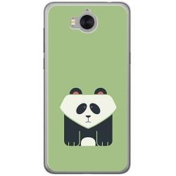 Funda Gel Tpu para Huawei Y6 2017 Diseño Panda Dibujos