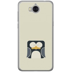 Funda Gel Tpu para Huawei Y6 2017 Diseño Pingüino Dibujos