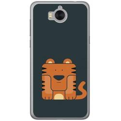 Funda Gel Tpu para Huawei Y6 2017 Diseño Tigre Dibujos