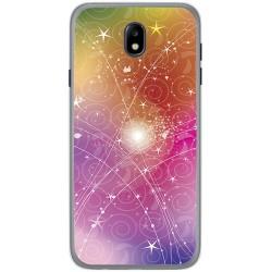 Funda Gel Tpu para Samsung Galaxy J7 (2017) Diseño Abstracto Dibujos