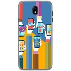 Funda Gel Tpu para Samsung Galaxy J7 (2017) Diseño Apps Dibujos