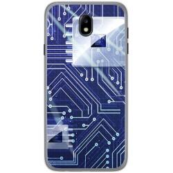 Funda Gel Tpu para Samsung Galaxy J7 (2017) Diseño Circuito Dibujos