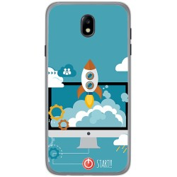 Funda Gel Tpu para Samsung Galaxy J7 (2017) Diseño Cohete Dibujos