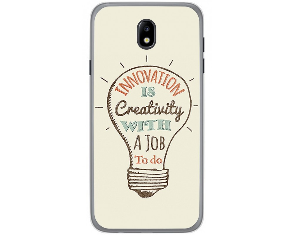 Funda Gel Tpu para Samsung Galaxy J7 (2017) Diseño Creativity Dibujos