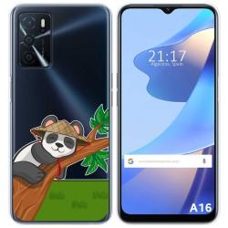 Funda Silicona Transparente para Oppo A16 / A16s diseño Panda Dibujos