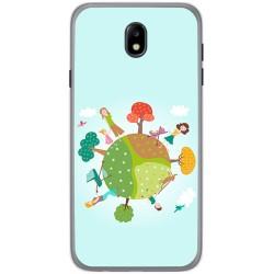 Funda Gel Tpu para Samsung Galaxy J7 (2017) Diseño Familia Dibujos