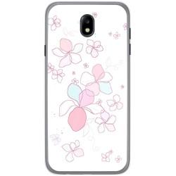 Funda Gel Tpu para Samsung Galaxy J7 (2017) Diseño Flores Minimal Dibujos