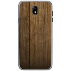 Funda Gel Tpu para Samsung Galaxy J7 (2017) Diseño Madera Dibujos
