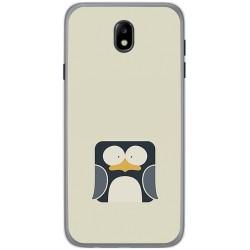 Funda Gel Tpu para Samsung Galaxy J7 (2017) Diseño Pingüino Dibujos