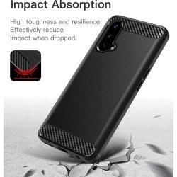 Funda Gel Tpu Tipo Carbon Negra para OnePlus Nord CE 5G