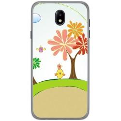 Funda Gel Tpu para Samsung Galaxy J7 (2017) Diseño Primavera Dibujos