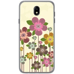 Funda Gel Tpu para Samsung Galaxy J7 (2017) Diseño Primavera En Flor  Dibujos