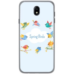Funda Gel Tpu para Samsung Galaxy J7 (2017) Diseño Spring Birds Dibujos