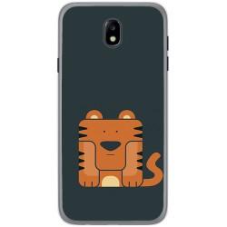 Funda Gel Tpu para Samsung Galaxy J7 (2017) Diseño Tigre Dibujos