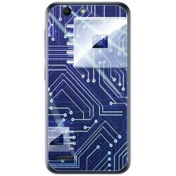 Funda Gel Tpu para Vodafone Smart E8 Diseño Circuito Dibujos