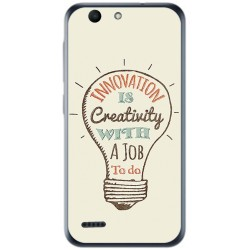 Funda Gel Tpu para Vodafone Smart E8 Diseño Creativity Dibujos
