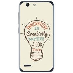 Funda Gel Tpu para Vodafone Smart E8 Diseño Creativity Dibujos