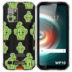 Funda Silicona Transparente para Oukitel WP10 diseño Cactus Dibujos