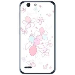 Funda Gel Tpu para Vodafone Smart E8 Diseño Flores Minimal Dibujos